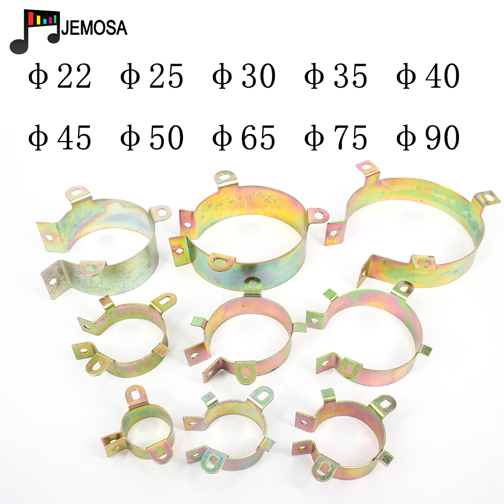 5PCS Durable Capacitor Bracket Clamp Holder Clap 30mm 35mm 40mm 50mm 65mm 75mm 90mm Mounting Clip Surface Plating Zinc