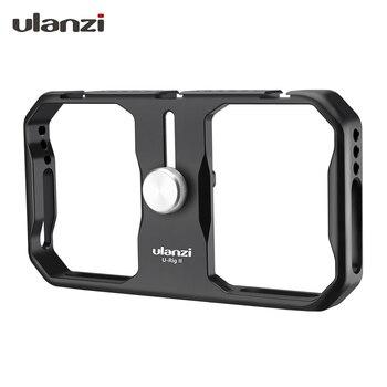 Ulanzi U-Rig II Universal Metal Video Cage for Smartphone Filmmaking +Cold Shoe Stabilizer Stabilizing Hand Grip Tripod Mount
