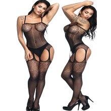 Full slips Even With Fishnet Stockings Open-seat Slips for Women Bodysuit Intimates