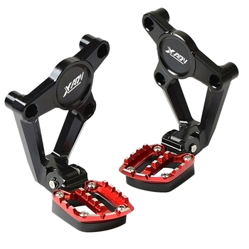 For Honda X-Adv Xadv X Adv 300 750 1000 2017-2019 Motorcycle Accessories Folding Rear Foot Pegs Footrest Passenger Red+Black
