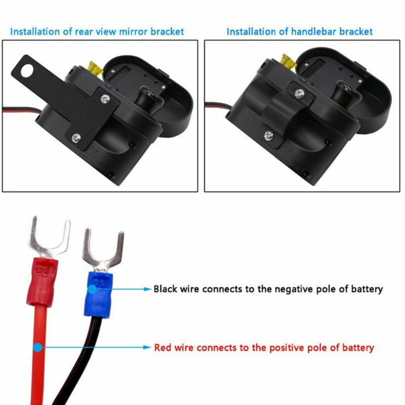 Outlet Voltmeter socket Motorcycle Cigarette Lighter Charger Switch Phone|Motorcycle Electronics Accessories| |  - title=