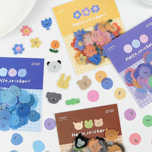 100pcs/lot Emotional Expression Round Stickers Decorative Dot Stickers Scrapbooking Stationery Laptop Diary Album Stick Label