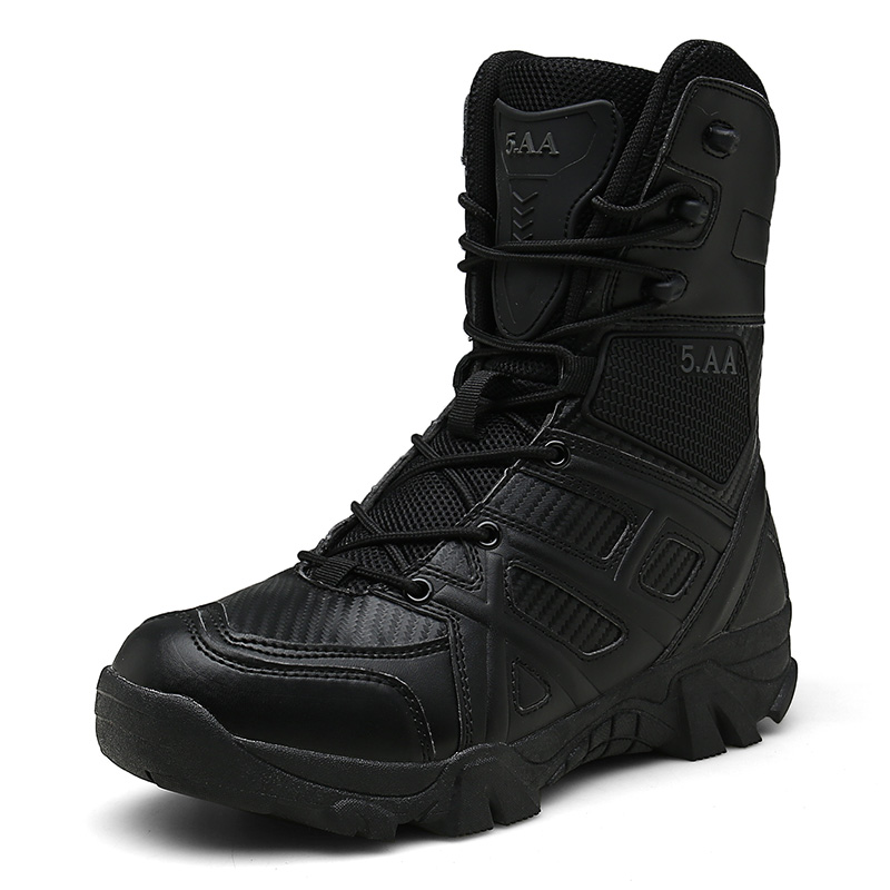 2019 Men's Boots Outdoor Shoes Men Brand Military Leather Boots Special Force Tactical Desert Combat Ankle Boots High Quality
