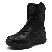 2019 Men's Boots Outdoor Shoes Men Brand Military Leather Boots