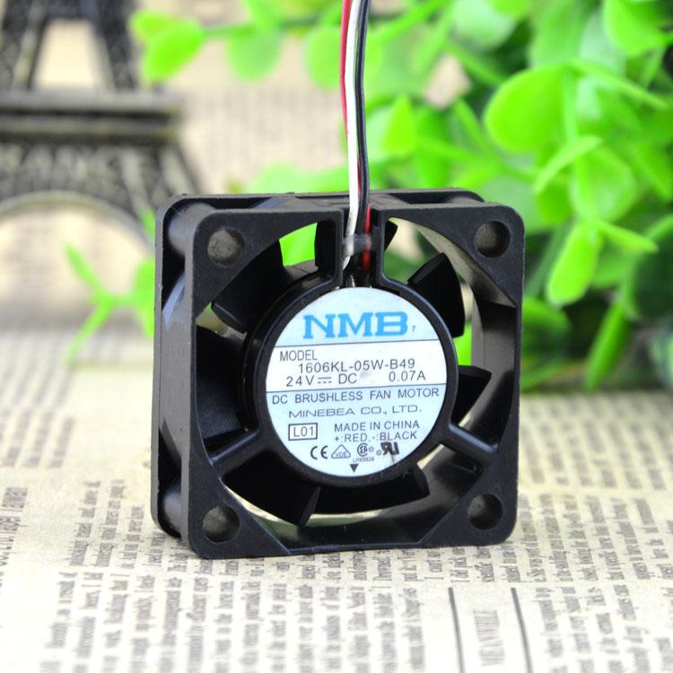 NMB 1606KL-05W-B49 1606KL-05W-B59 4015 24V 0.07A 4CM Double Ball 3-wire Inverter Fan