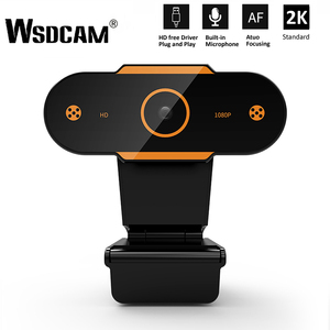 Wsdcam Auto Focus 2K HD Webcam 1944P Web Camera With Microphone Cameras for Live Broadcast Video Calling Home Conference Work