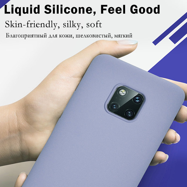 Original Liquid Silicone Phone Case For Huawei P30 P20 P40 Mate 20 30 Honor 20 Lite Pro P Smart 2019 Luxury Soft Protector Cover