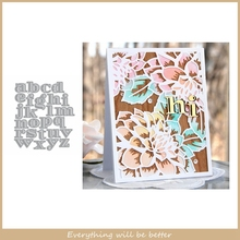 A-Z 26 Letter Words Alphabet Metal Cutting Dies Hot Sale Stencils Decorate Cards DIY Make Paper Die Cut Dies Scrapbook Craft New cute baby clothes bow lace leather belt button metal cutting dies diy scrapbook craft new stencils make cards embossing paper