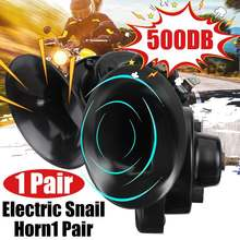 1 Pair Universal Loud 500DB 12V Electric Snail Horn Air Horn Raging Sound For Car Motorcycle Truck Boat Car