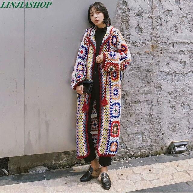 Женский вязаный свитер ручной работы, однотонный вязаный свитер с длинными рукавами, осенний свитер высокого качества, 2019