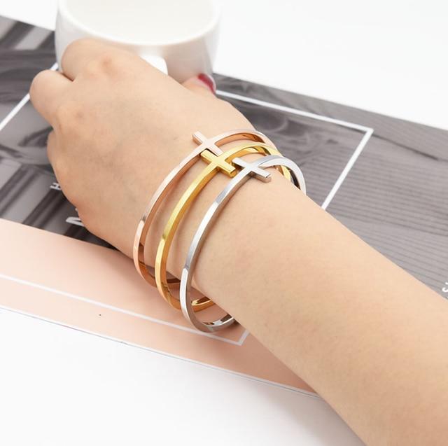 Fashion Cross Bangle Bracelets  4