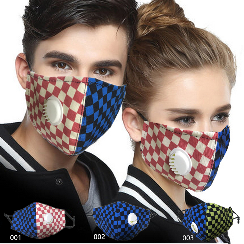Fashion PM2.5 Washable Mouth Mask With Breathing Valve Anti Haze Dust Mask Nose Filter Face Dust Respirator Mouth Mask