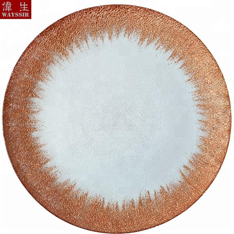Dia33 см круглые Серебристые золотистые наклейки прозрачная