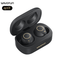 Wavefun Bluetooth Earphone aptX HIFI Headphones IPX7 Earbuds Wireless Earphones Touch Control TWS Headset BT5.0 Dual Microphone