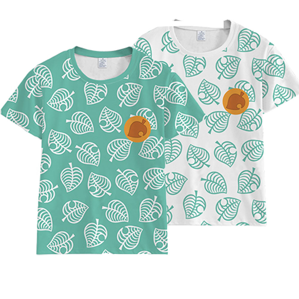 2020 Summer Kids Animal Crossing Costume T-Shirt Tom Nook Cosplay 3D Print T Shirt Girls Boys Short Sleeve School Clothes