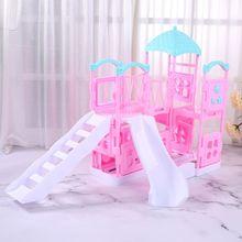 1/12 Dollhouse Sliding Play Ladder Amusement Park Miniatures Girls Slide Garden Toys Doll House Accessories