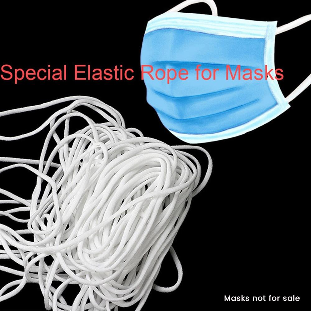 Mask Elastic Rope 2.5mm Diameter Round Elastic Mask Band Oil Core Belt Rope Handmade DIY Protective Mask Accessories 50meters