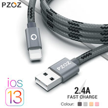 Pzoz Kabel USB untuk iPhone Kabel XS Max XR X 8 7 6 Plus 6 S 5 S Plus iPad Mini cepat Pengisian Kabel Mobile Phone Charger Kabel Data(China)