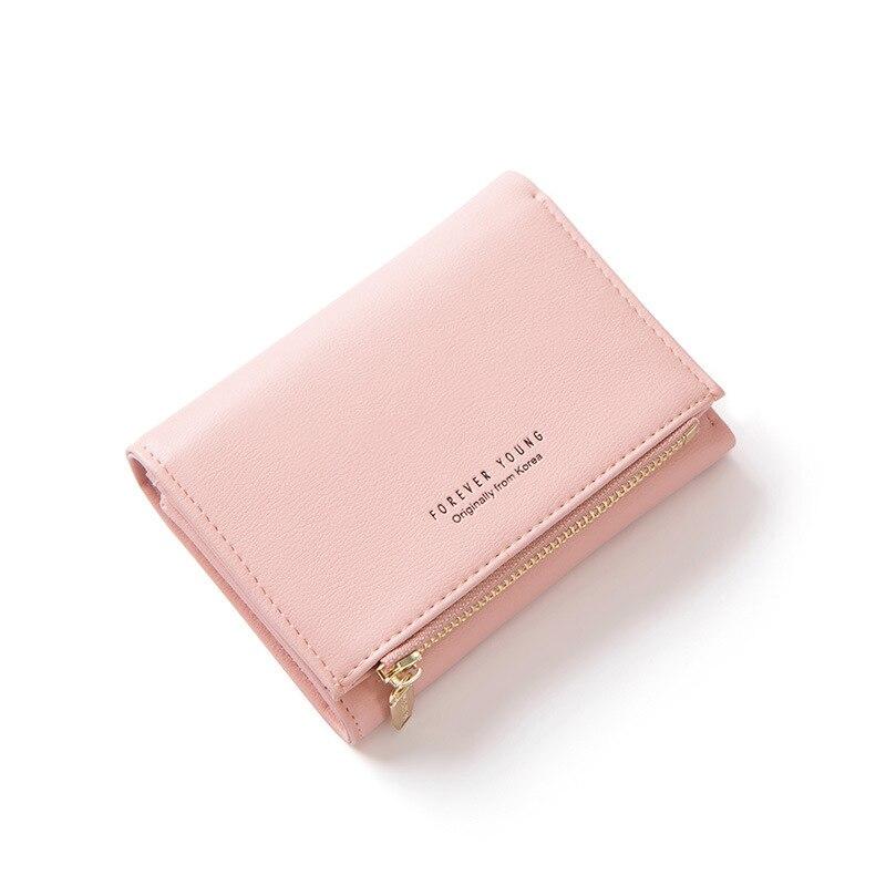 Женские кошельки с индивидуальным ID держатель для карт на молнии с карманом для монет дамские маленькие кошельки женский кошелек Carteira высокое качество - Цвет: Pink