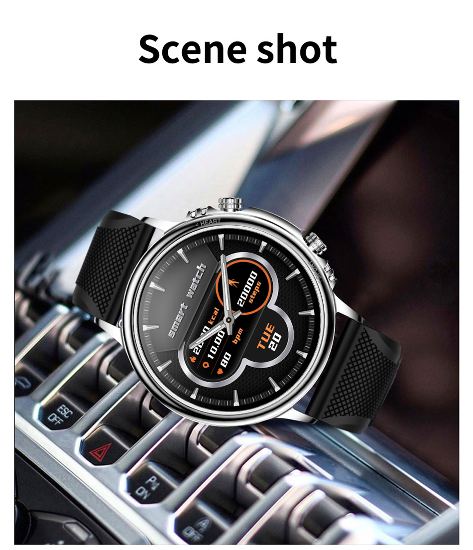 H9f8dd68707444a3292f04cc13332e68cT LIGE New Smart Watch Men Custom Dial Full Touch Screen Waterproof Smartwatch For Android IOS Sports Smart watch Fitness Tracker