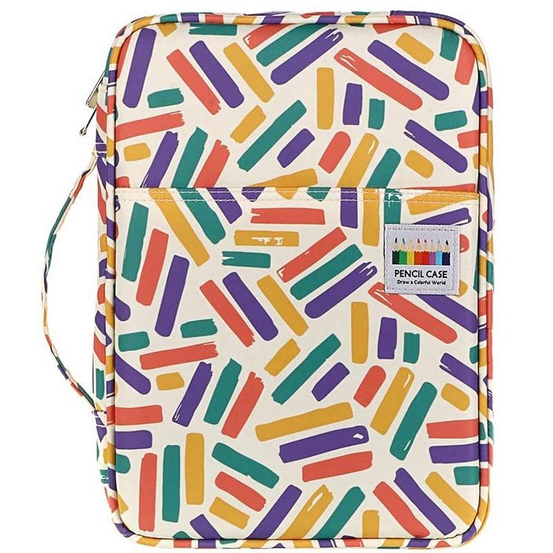 220 Slots Colored Pencil Case Pen Case with Compartments Portable Pencil Holder for Watercolor Pencils
