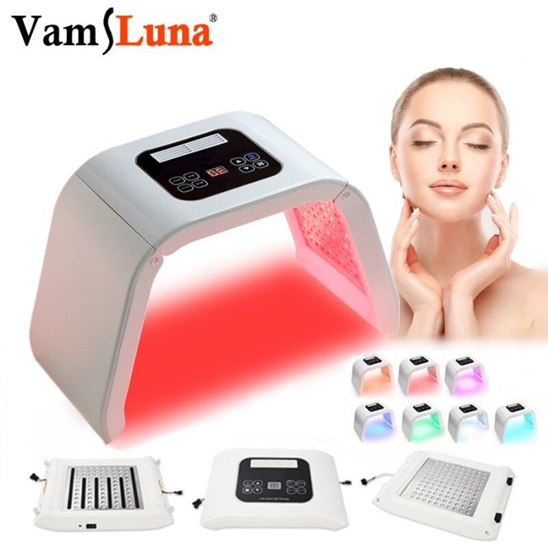 PDT Спектрограф светодиодный фотонный светильник для лица терапевтическая маска отбеливание акне против морщин уход за кожей|Светодиодная маска для лица|   | АлиЭкспресс