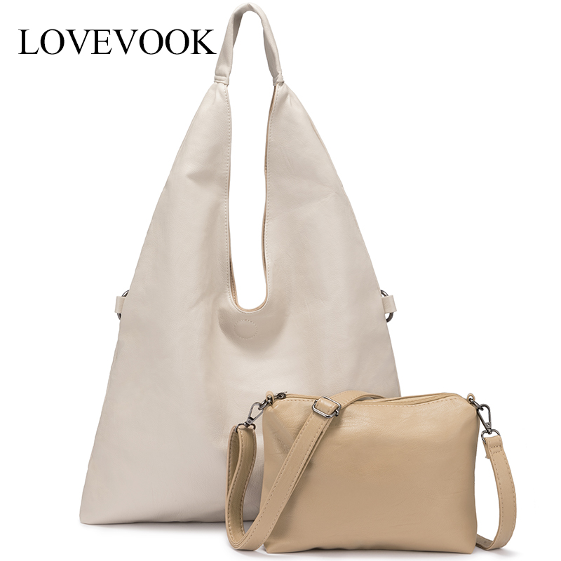 Shoulder-Bags Minimalist LOVEVOOK Totes Messenger/crossbody-Bag Large Women Ladies PU
