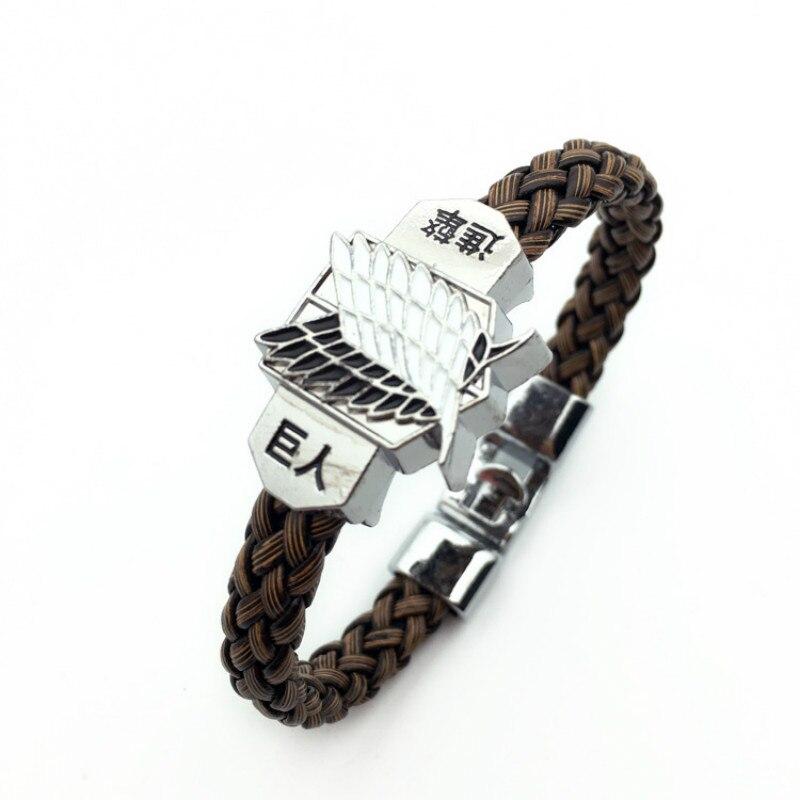 Косплей обувь для косплея по аниме «атака на Титанов» Браслеты для Косплей» (Shingeki No Kyojin) веревочный браслет из горного хрусталя браслет женс...
