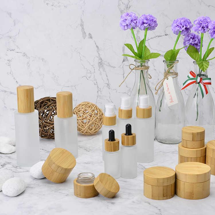 竹化粧品包装スプレー香水瓶 150 ミリリットル 120 ミリリットル 100 ミリリットル生分解木製麻 CBD 油クリームボトルナチュラル高級