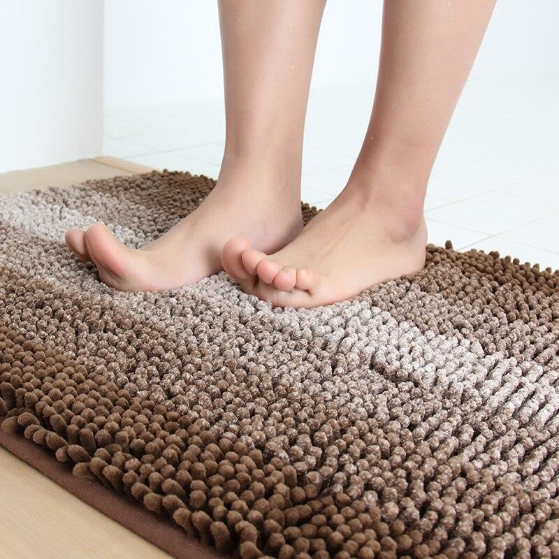 honlaker microfiber chenille bathroom rug super soft gradient stripe bath mats non slip kitchen floor mat 45x60cm