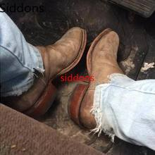 Winter Ankle Boots Men Shoes with Fur Warm Vintage Classic M