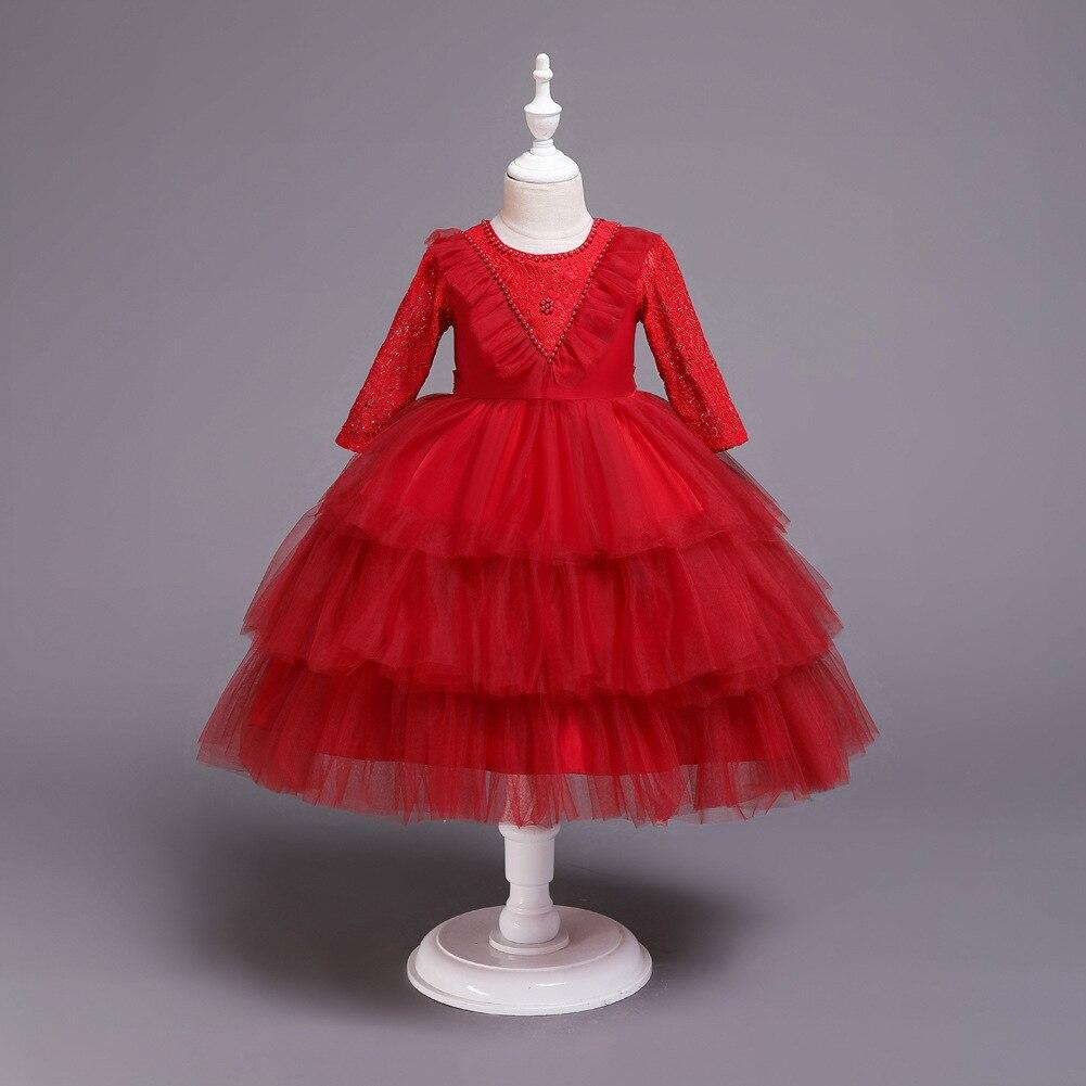 2019 New Style Childrenswear Long Sleeve Children Formal Dress Princess Dress Photography Flower Boys/Flower Girls Dress Birthda