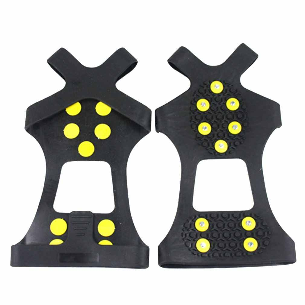 Outdoor Ice Traction Universal Black Over Shoe Studded Snow Grips Ice Spikes Anti Slip Snow Crampons Cleats