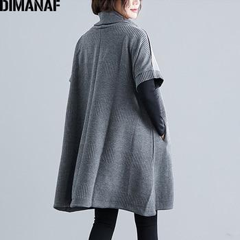 DIMANAF Winter Plus Size Women Sweatshirts Pullovers Female Tops Shirts Turtleneck Big Size Loose Casual