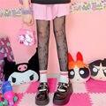 Кавайные носки высокие сетчатые чулки гетры Симпатичные Привет Китти Кот чулки Лолита носки Для женщин колготки G колготки