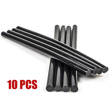 цена на 10pcs/set 7mm Black Hot Melt Glue Sticks For Electric Glue Gun Craft Album Alloy Accessories Car Dent Paintless Removal Hand