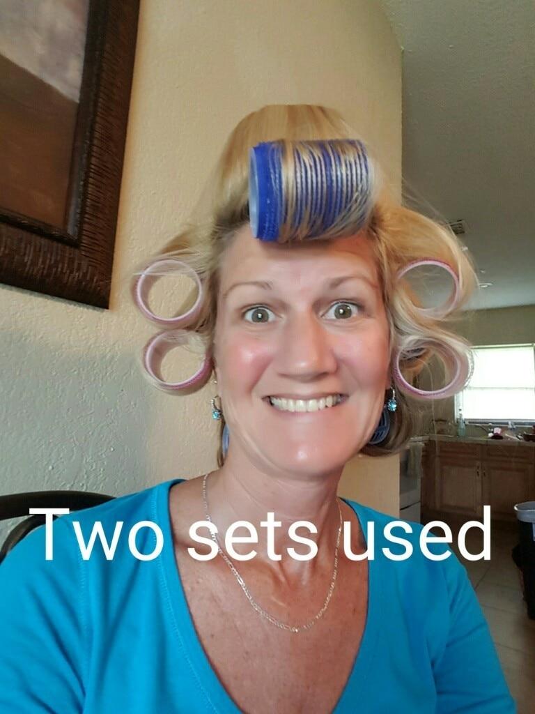 6Pcs/Set Big Self Grip Hair Rollers Cling Any Size DIY Hair Curlers Random Color DEC889