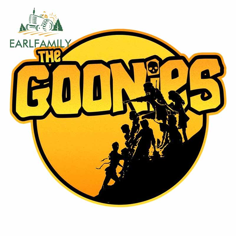 EARLFAMILY 13cm for The Goonies Car Stickers Personality Scratch-proof Custom Printing Bumper Truck DIY VAN Decal Decoration