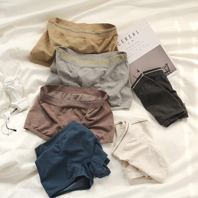 3pcs Men's Underwear Cotton Soft Comfortable Breathable Boxer Shorts No Pressure Elasticity Men's Boxer Shorts