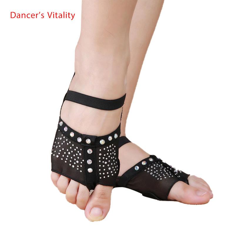 Women Dance Belly Dance Foot Thong Dance Shoes Foot Half Sun Diamond Decorated Size 34 - 41 (us3.5 - 10.5) S,M,L,XL