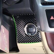 1pc carro de fibra carbono interior interruptor ignição buraco chave quadro capa adesivo guarnição para toyota highlander 2015 2016 2017 2018