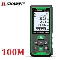 SNDWAY Laser Distance Meter Green Lase Rangefinder 50M 70M 100M Range Finder Trena Tape Measure Device Angle Ruler Roulette Tool
