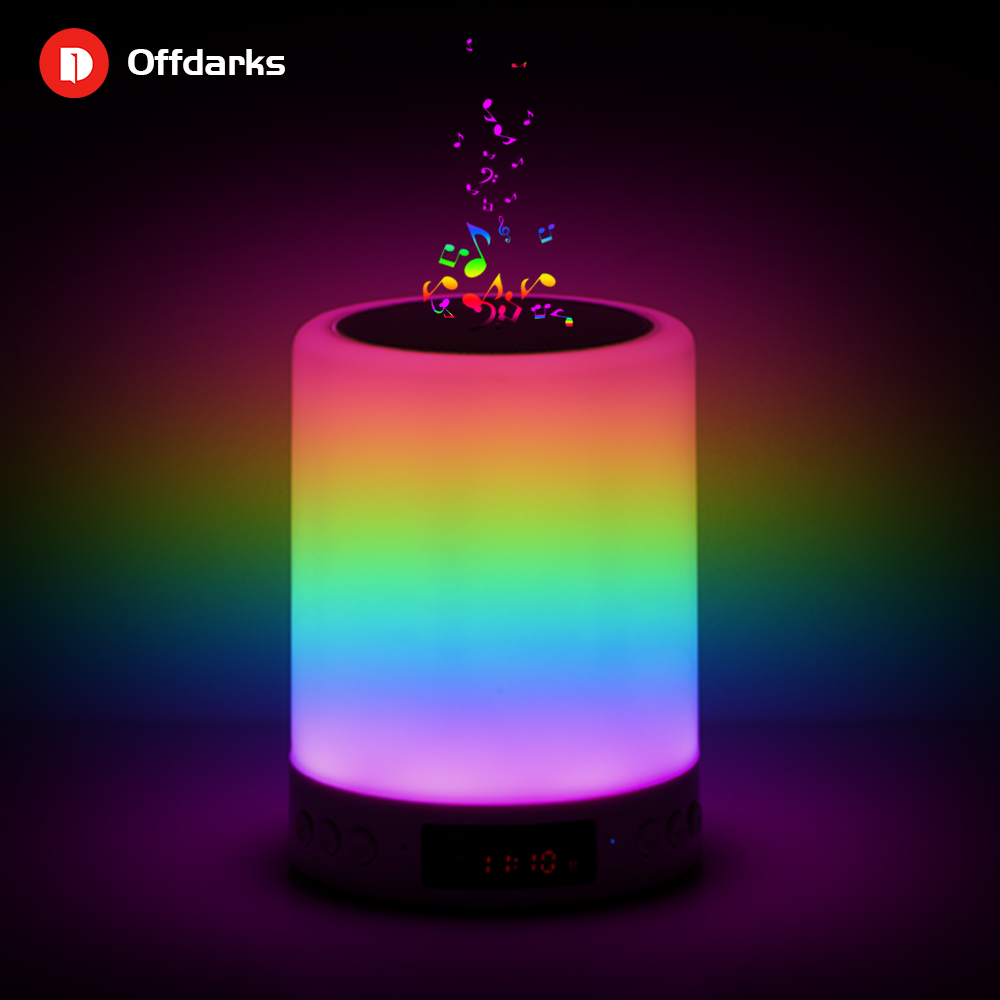 OFFDARKS Smart Bluetooth Speaker LED Night Light Touch Control USB Charging Portable Child Bedroom RGB Dimmable Bedside Lamp
