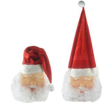 Boże narodzenie Santa Claus osłona na twarz boże narodzenie występ na imprezie rekwizyty czerwony boże narodzenie kapelusz święty mikołaj maska boże narodzenie dekoracji tanie i dobre opinie CN (pochodzenie) Santa Claus Mask