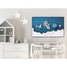 3d мультфильм галактика постер астронавт путешествия Вселенная