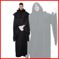 New Halloween Carnival Adult Men Cosplay Dress Dark Evil Spirits Black Robe Crazy Wizards Demon Stage Party Performance Costumes