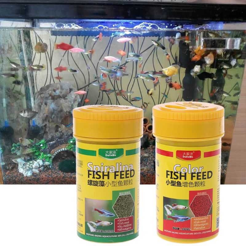 Spirulina Food Tropical Fish Nutrition For Aquarium Fish Tank Color Enhanced Food