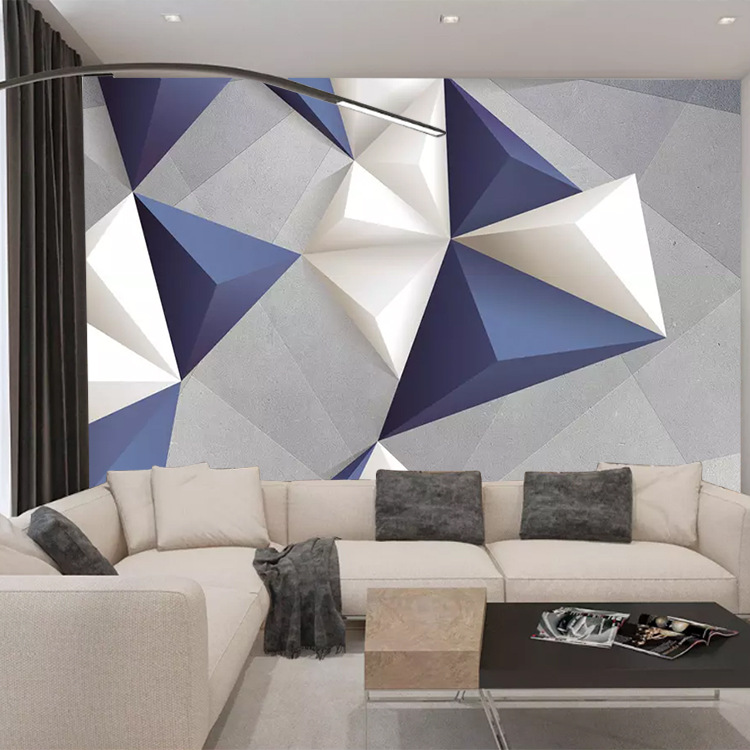 Scandinavian Minimalist Large Cool 3D Geometry Lines Living Room Bedroom TV Background Wallpaper Mural Wall Cloth