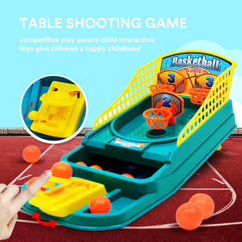 Mini Tabletop Basketball Game for Adults & Kids Board Game Children'S Educational Parent-Child Interactive Party Toys plastic toy baby birthday gift desktop funny game tabletop shoot football fossball family parent child interactive educational