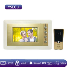 YSECU Video Intercom 4.3 inch Wired Video Door Phone with 1000TVL Doorbell Camera Call Panel IR Night Vision for Home Intercom(China)